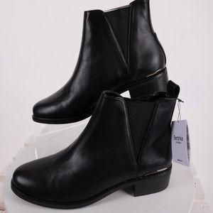 Bershka Zara Ankle Boots Chelsea Stretch Black 6.5